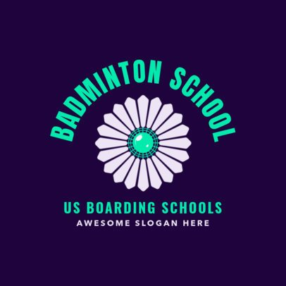 Badminton Logo Maker for a School Team with a Shuttlecock Symbol 1631b
