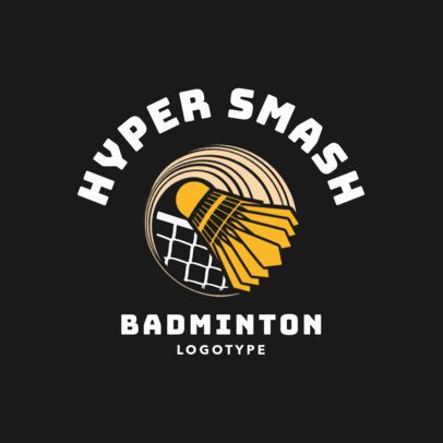 Badminton Logo Maker for Pro Badminton Teams 1631c