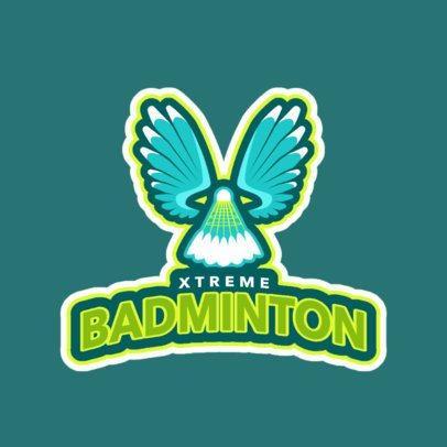 Badminton Club Logo Maker for Badminton Tournaments 1628c