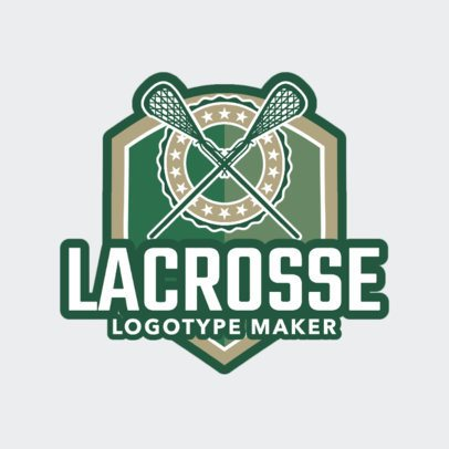 Lacrosse Logo Maker with a Badge and a Lacrosse Stick Clipart 1594