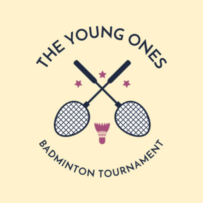 Badminton Logo Maker for Youth Badminton Tournaments 1630d