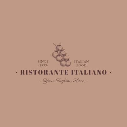 Minimalistic Italian Restaurant Logo Maker 1659