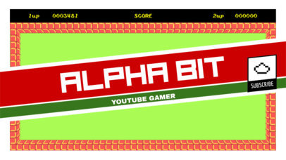 Retro YouTube Banner Maker for Gamers 393e