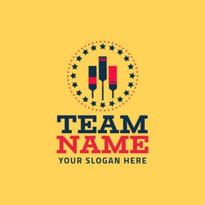 Cricket Team Logo Template 1653b