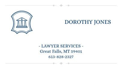 Business Card Maker for Lawyer Services 348a