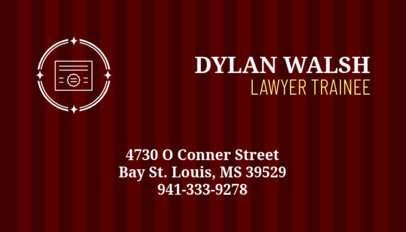 Business Card Maker for a Law Trainee 348d