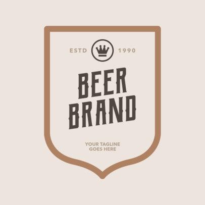 Beer Logo Maker with Frame 1658