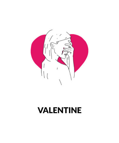 Sad Valentine's Day T-Shirt Design Maker 1038