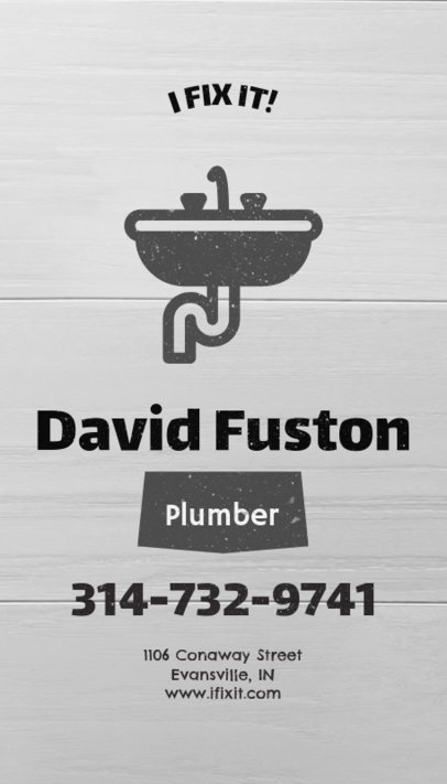 Business Card Template for Plumbers and Handymen 82b-1903