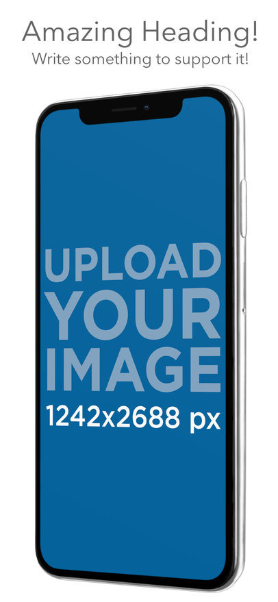 iOS Screenshot Generator Featuring an iPhone XS Max with Illustrated Backgrounds 25303