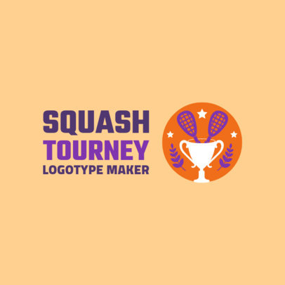Colorful Squash Logo Maker for a Squash Tournament 1633d