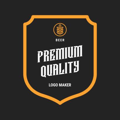 Premium Beer Logo Maker 1658a
