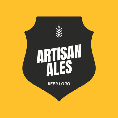 Classy Brewery Logo Designs Maker for Artisanal Beer 1658e