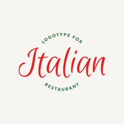 Pasta Restaurant Logo Maker with Calligraphy Font 1662