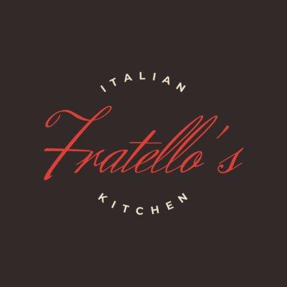 Classy Italian Food Logo Maker 1662b