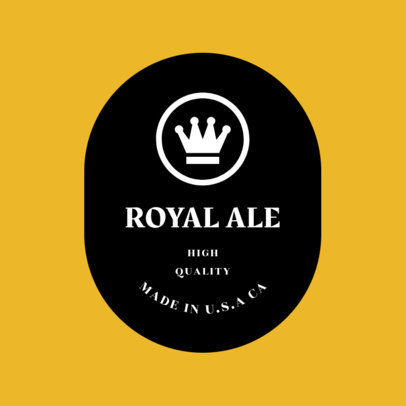 Craft Beer Logo Design Template 1657c