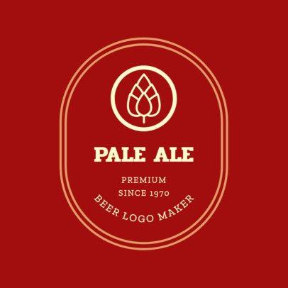Artisanal Beer Logo Design Template 1657e