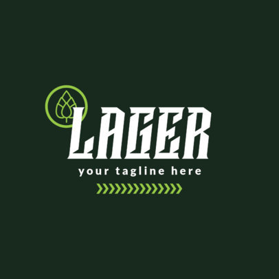 Craft Beer Logo Maker for a Lager Beer Brand 1656b