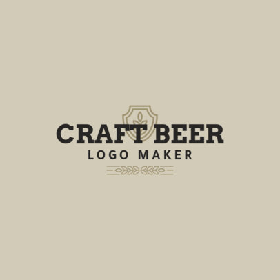 Simple Beer Logo Maker for a Craft Beer Brand 1656e