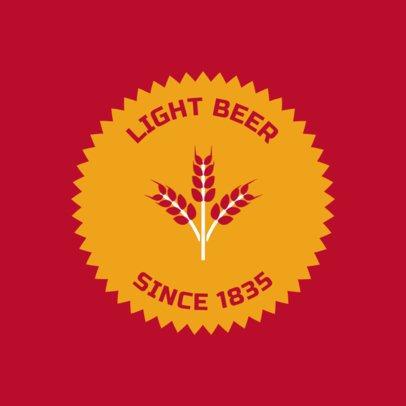 Minimalistic Brewery Logo Design Template 1655b