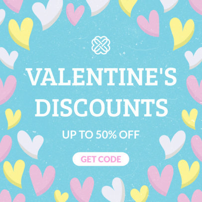 Valentine's Day Discounts Banner Maker 1051e