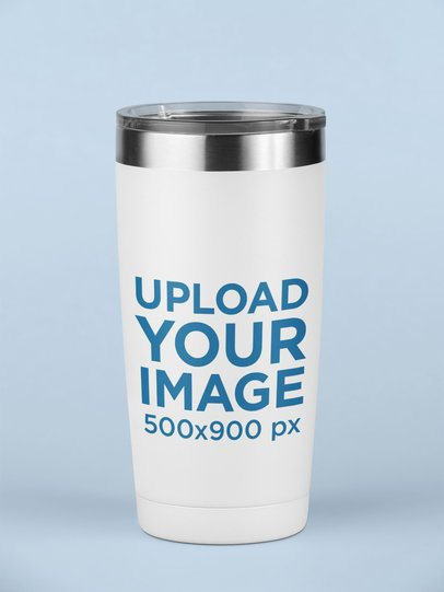 Mockup of a Travel Mug on a Surface 24403
