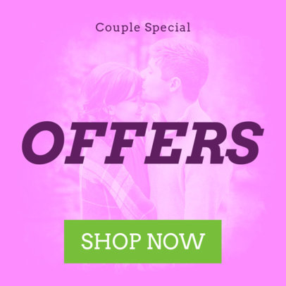 Banner Maker for a Special Valentine's Day Offer 1047c