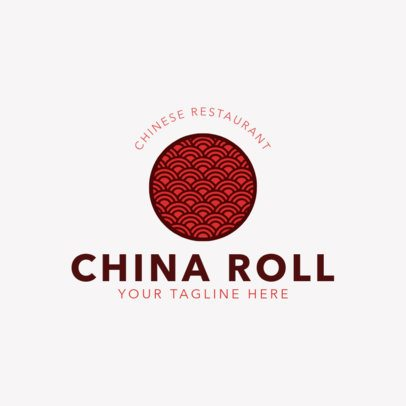 Chinese Restaurant Logo Template for Traditional Asian Food 1666
