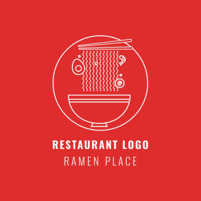 Chinese Food Logo Template for Ramen Restaurants 1670a