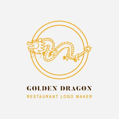 Chinese Food Logo Template with Dragon Clipart 1670c