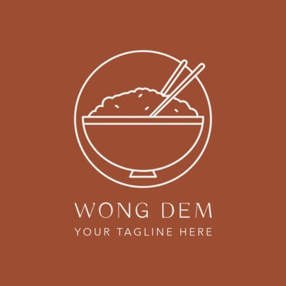 Simple Chinese Food Logo Maker for a Traditional Asian Restaurant 1670d