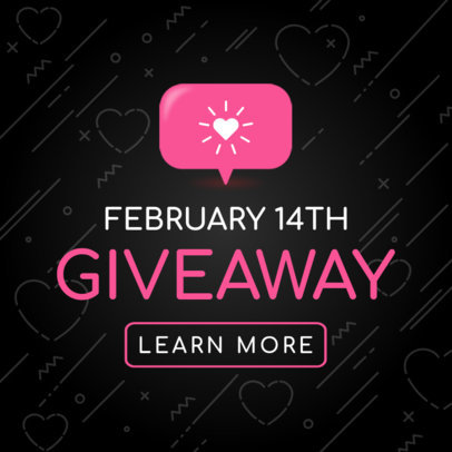 Banner Maker for a Valentine's Day Giveaway 1056d