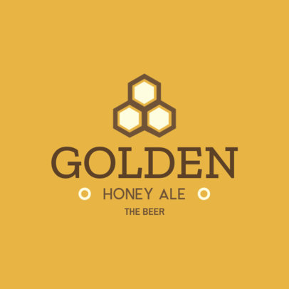 Brewery Logo Design Template for a Honey Ale Beer Brand 1654b
