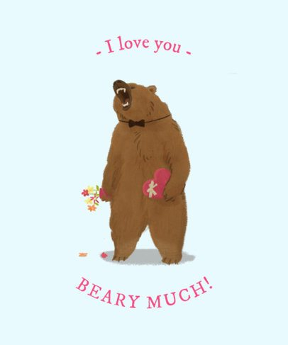 Valentine's Day T-Shirt Design Maker with a Loving Bear Graphic 1039b