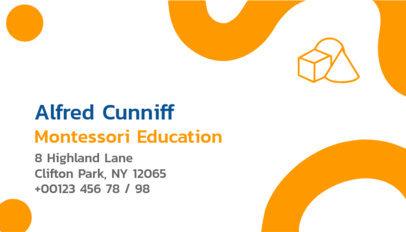 School Professor Business Card Template 574d