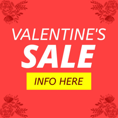 Banner Maker for a Valentine's Day Special Sale 1049a