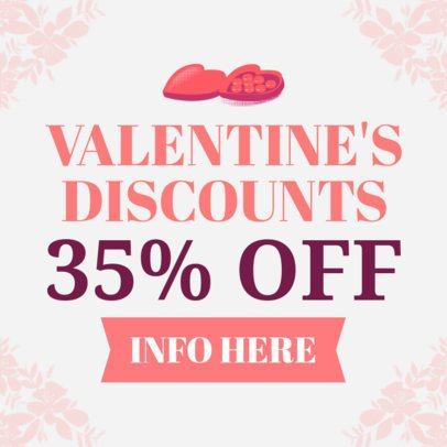 Valentine's Day Discount Banner Maker 1049e