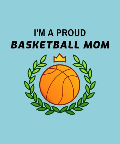 Basketball Mom T-Shirt Design Maker 906e