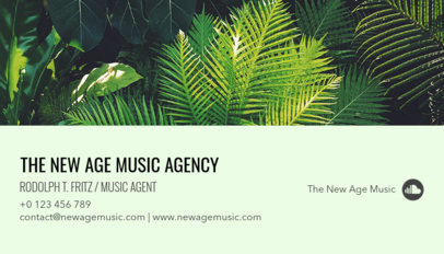 Business Card Maker for a Music Agent 118e