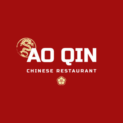 Minimalistic Chinese Restaurant Logo Maker 1668a