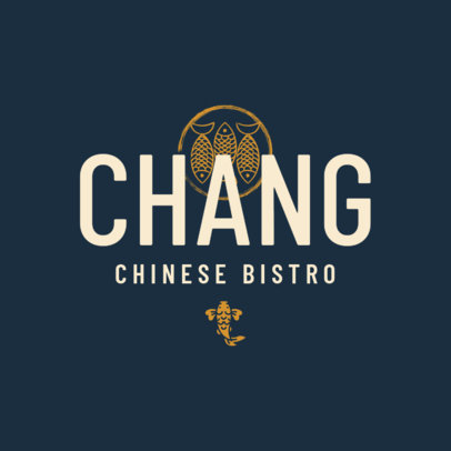 Chinese Restaurant Logo Template for Asian Bistros 1668b