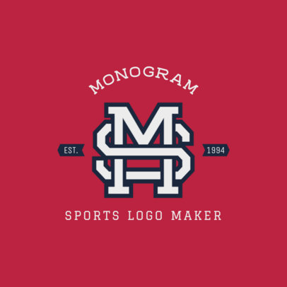 Sports Logo Maker with Monogram Letters 1693