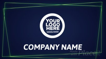 Neon Logo Intro Maker with Animated Geometric Shapes 1043