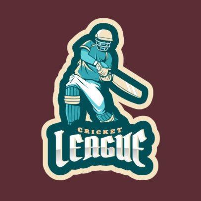 Cricket League Logo Maker 1649e
