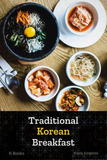 Book Cover Generator for a Korean Food Recipes Book 907e