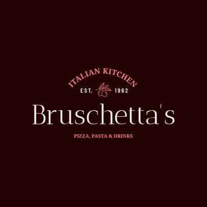 Italian Restaurant Logo Maker for a Pasta and Pizza Place 1661d