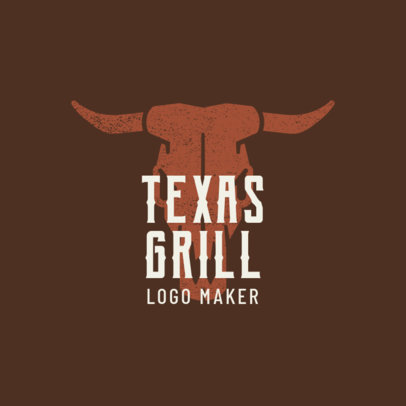 Texas Grill Logo Maker 1674b