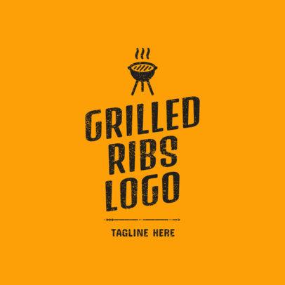 Logo Maker for a Grilled Ribs Restaurant 1675c