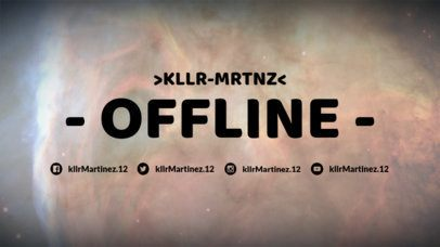 Simple Offline Twitch Banner Maker with Milky Way Images 979c