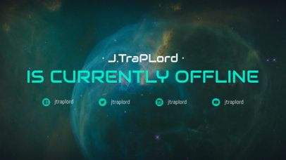 Offline Twitch Banner Design Template with Space Fonts 979d